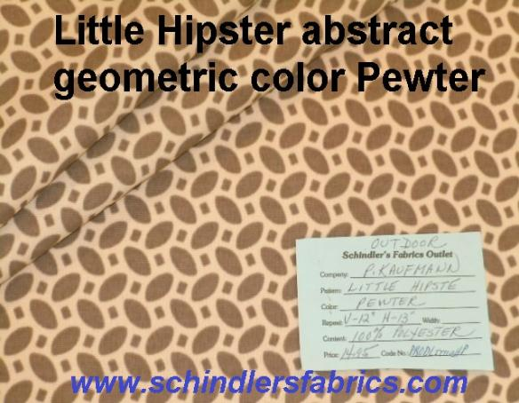 Discount Outdoor Fabric Little Hipster abstract geometric, color Pewter