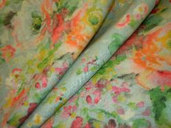 Covington Fabrics linen blend floral screen print