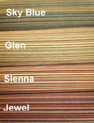 Rolls of colors Jewel, Sienna, Glen or Sky Blue, pattern Maryland Upholstery Fabric