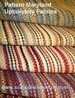 Pattern Maryland Upholstery Fabric Southwestern inspired, in sunset colors, railroaded stripes with chenille accents