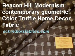 Contemporary Geometric Pattern Modernism Color Truffle Home Decor Fabric from Robert Allen's Beacon Hill, linen Silk blend