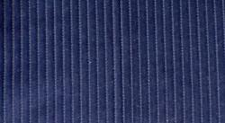 Swatch of Navy Blue Velvet Corduroy Fabric