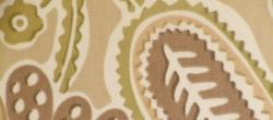 Swatch of paisley floral screen print P Kaufmann Pattern Outdoor Bertie Color Sand