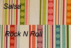 Swatches of Groovin Decorator Fabrics on Clearance
