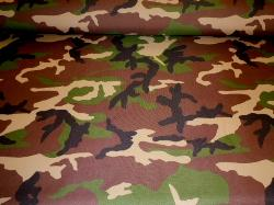 Pattern Padre Camo outdoor and marine canvas in camouflage on cutting table