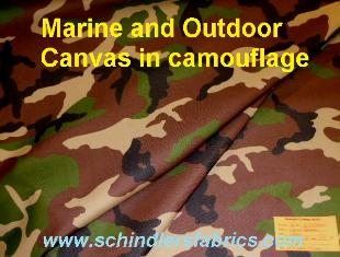 Pattern Padre Camo outdoor and marine canvas in camouflage
