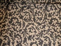Pattern Padre Scroll floral Black