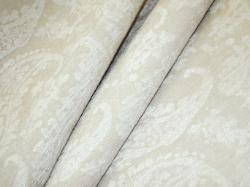 Pattern Paisley Snow color Cream Chenille fabric