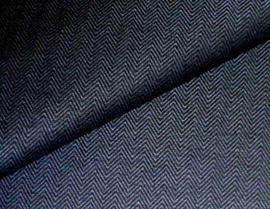 Pattern Pomeroy color Midnight, Classic Herringbone Upholstery Fabric