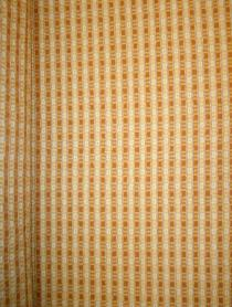 Railroaded image of woven upholstery fabric with railroaded stripes and chenille accents