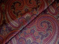 High End Designer Paisley Fabric in Cognac 70 percent off retail