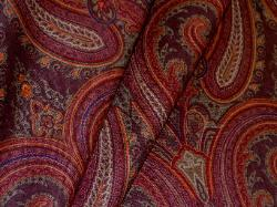 Closeout High End Designer Paisley Fabric in Cognac