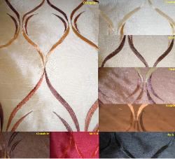 Embroidered Taffeta design with a satin like sheen, Pattern Regis, colors