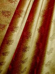 Silk Decorator Fabric from Beacon Hill Pattern Tenali Color Copper Red Closeout