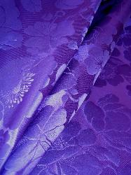 Silk Floral Grand Colonial Color Purple from Ralph Lauren Designer Fabric on Sale