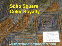 Schindlers Shop tag for Soho Square Color Royalty Upholstery Fabric