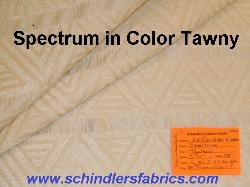 Schindlers Fabrics Shop tag for Spectrum in Color Tawny Decorator Fabric