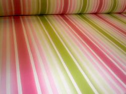 Pattern Stillwater home decor fabric color Sorbet Stripe Design cotton print with stain and soil resitant finish printed in USA from Braemore Textiles clearance