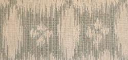 Swatch of contemporary trellis ikat look woven jacquard Braemore Pattern Sumba Color Chambray