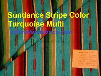 Laura & Kiran pattern Sundance Stripe Color Turquoise Multi