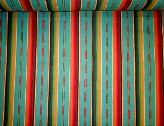 Color Turquoise Multi from Laura & Kiran, medium weight herringbone weave
