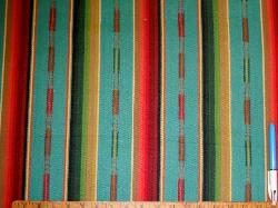 Color Turquoise Multi Pattern Sundance Stripe for Home Decor Sample
