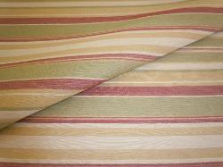 Closeup folded image of Railroaded Stripe Upholstery and Home Decor Fabric, pattern Tahitian Night, Color Garden