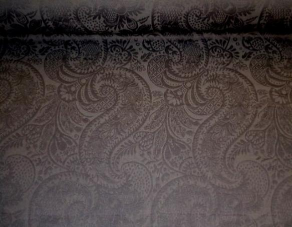 Pattern Tracy Paisley Matelasse textured pattern decorator fabric, in color Charcoal (black)
