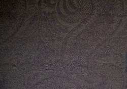 Closeup of textured pattern decorator fabric, in color Charcoal