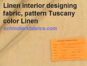 Linen interior designing fabric pattern Tuscany color Linen