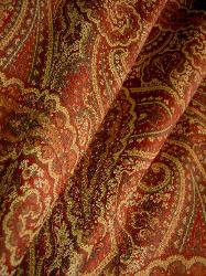 Upholstery Weight Paisley Pattern Chianti Tapestry Color Brick Interior Decorating Fabric