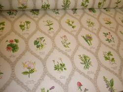 Angled image of Northcroft Fabrics Ltd printed in the UK Chintz Wild Flowers Color Meadow Fabric
