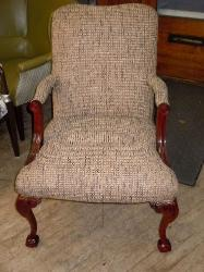 Chair in Pattern Wilson Color Gray Upholstery Fabric woven textured basketweave pattern