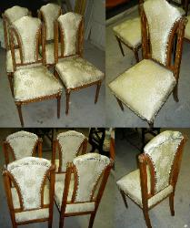 Classic Reupholstered Dining Room Chairs